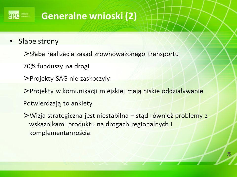 Generalne wnioski (2) Słabe strony