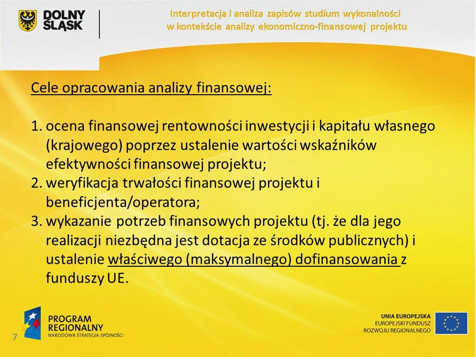 Cele opracowania analizy finansowej:
