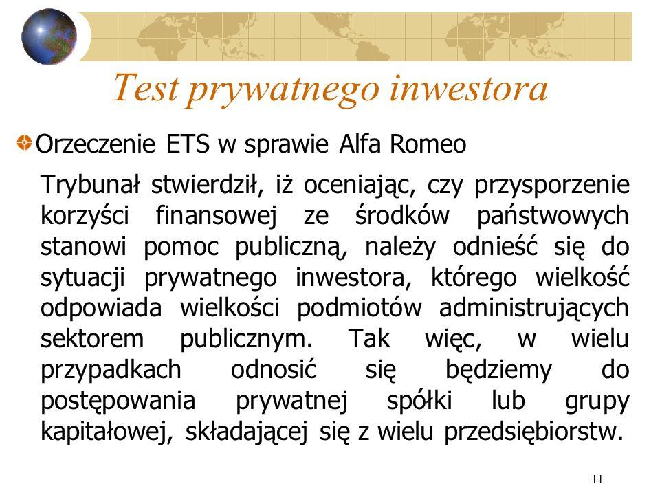 Test prywatnego inwestora
