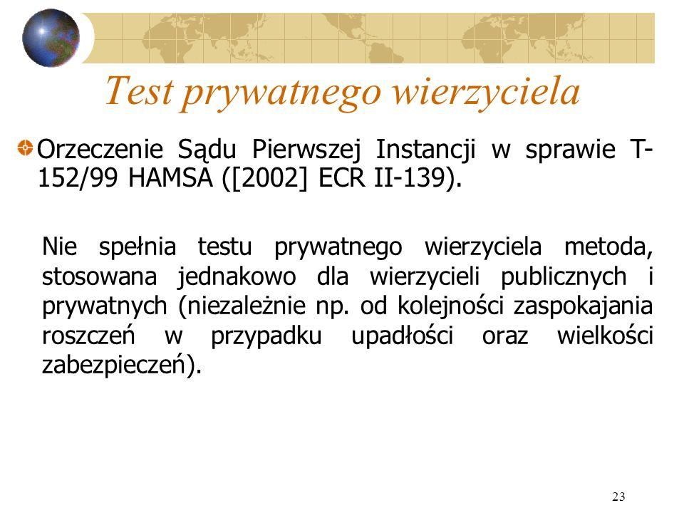 Test prywatnego wierzyciela