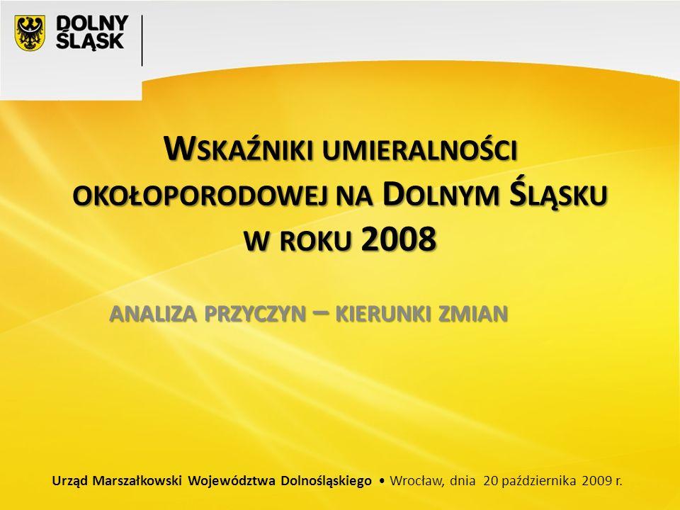 Wskaźniki umieralności okołoporodowej na Dolnym Śląsku w roku 2008