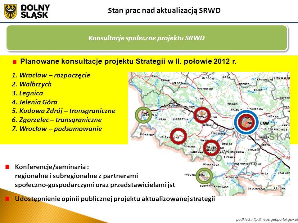 Stan prac nad aktualizacją SRWD Konsultacje społeczne projektu SRWD