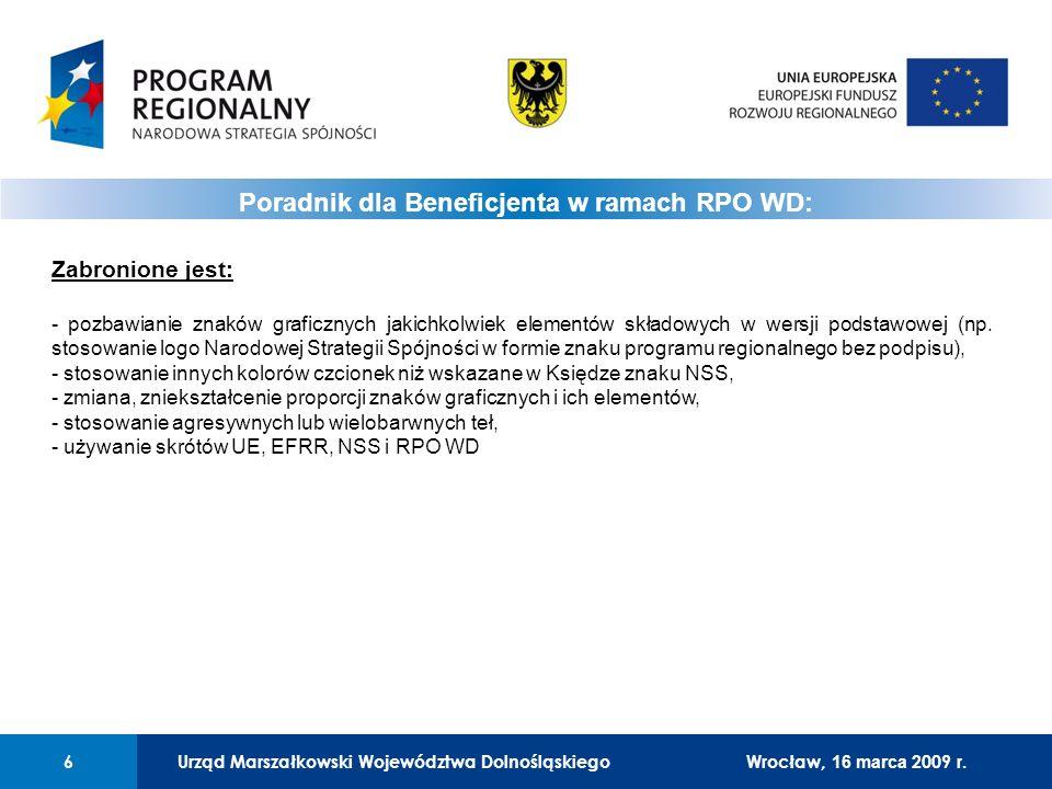 Poradnik dla Beneficjenta w ramach RPO WD: