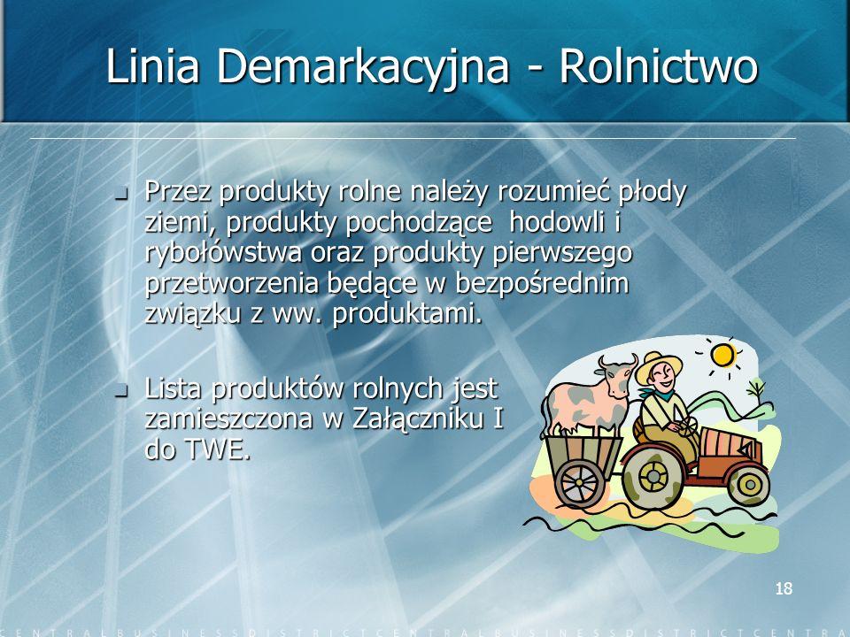 Linia Demarkacyjna - Rolnictwo