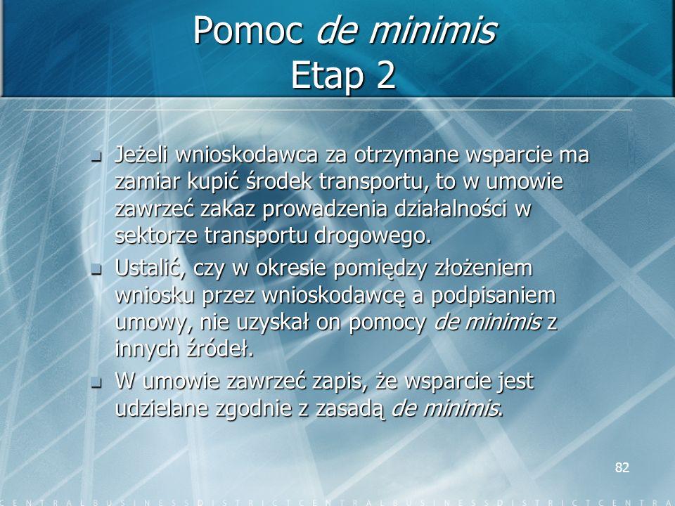 Pomoc de minimis Etap 2