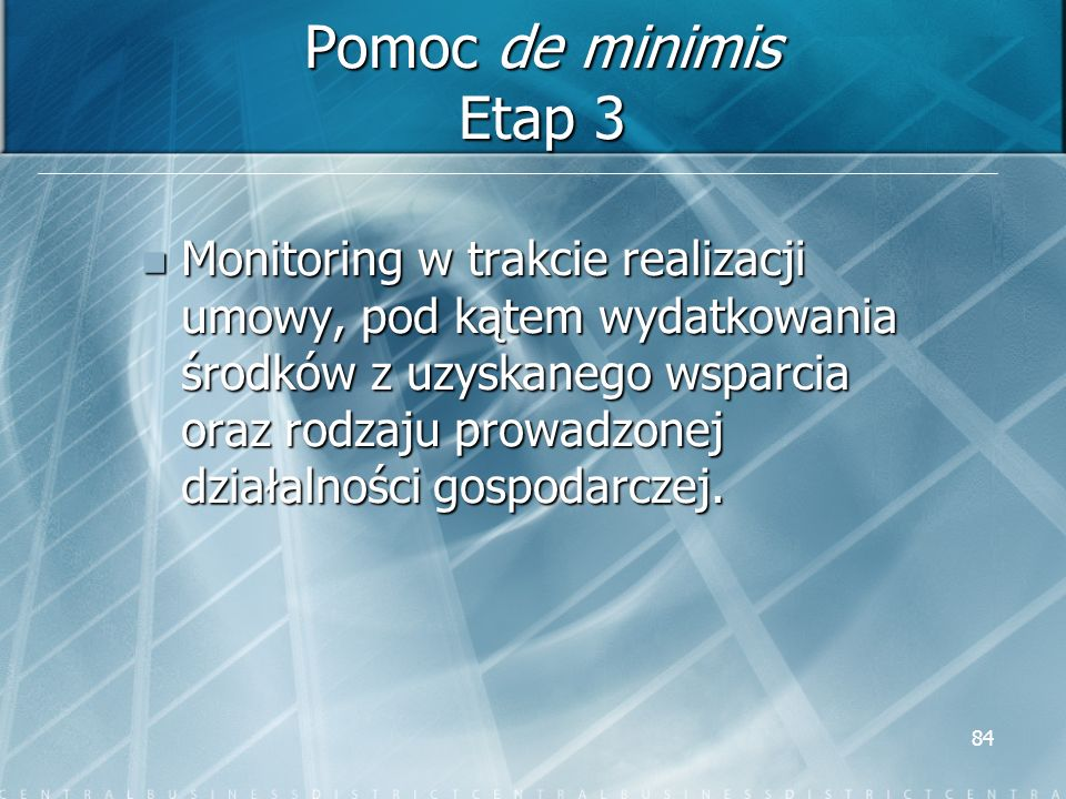 Pomoc de minimis Etap 3