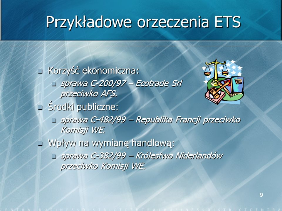 Przykładowe orzeczenia ETS