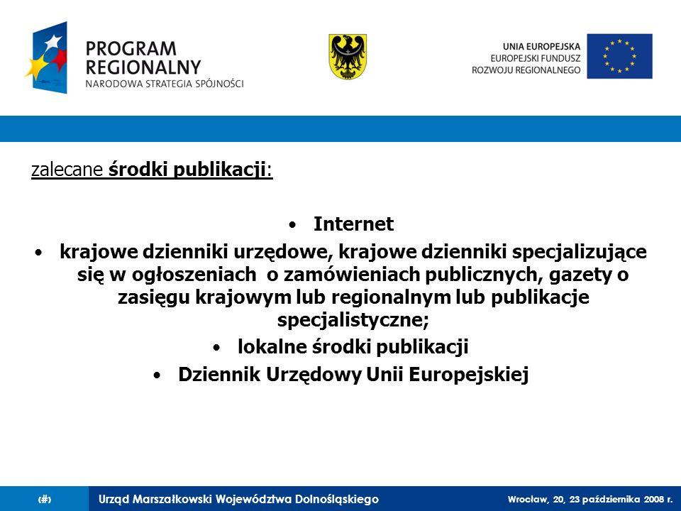 lokalne środki publikacji Dziennik Urzędowy Unii Europejskiej
