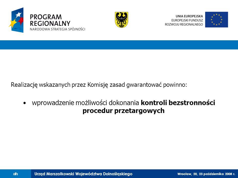 Realizację wskazanych przez Komisję zasad gwarantować powinno: