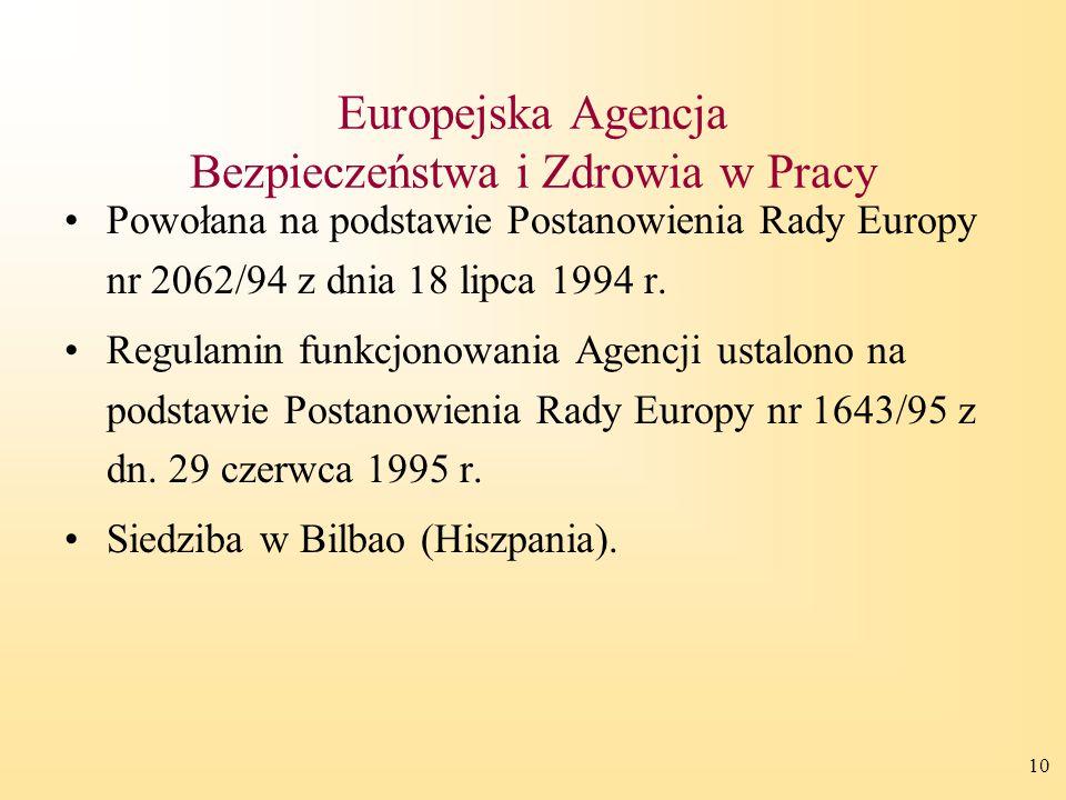 Europejska Agencja Bezpieczeństwa i Zdrowia w Pracy