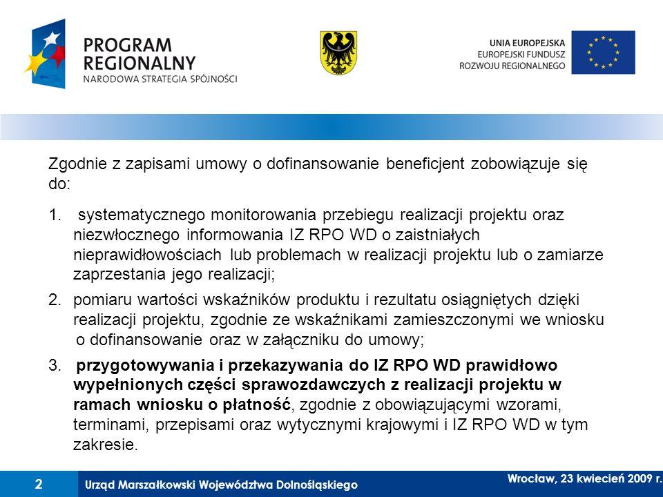 Zgodnie z zapisami umowy o dofinansowanie beneficjent zobowiązuje się do: