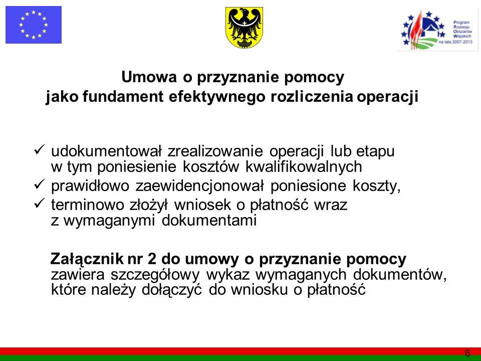 Umowa o przyznanie pomocy jako fundament efektywnego rozliczenia operacji