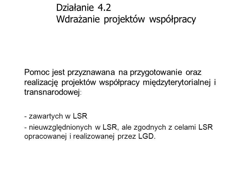 Działanie 4.2 Wdrażanie projektów współpracy