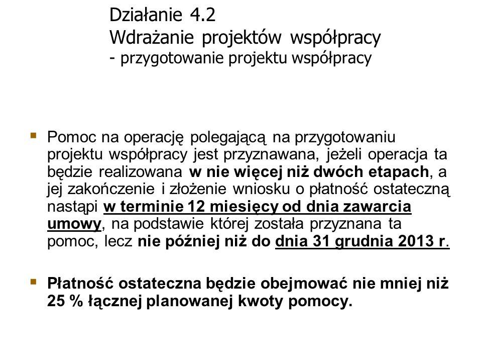 Działanie 4.2 Wdrażanie projektów współpracy - przygotowanie projektu współpracy