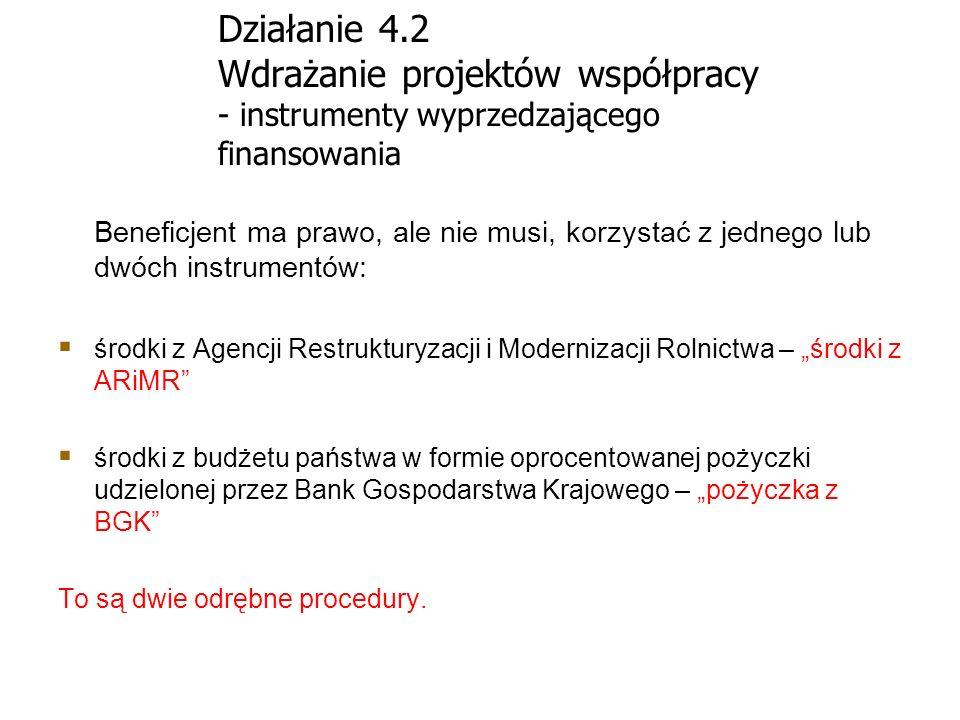 Działanie 4.2 Wdrażanie projektów współpracy - instrumenty wyprzedzającego finansowania