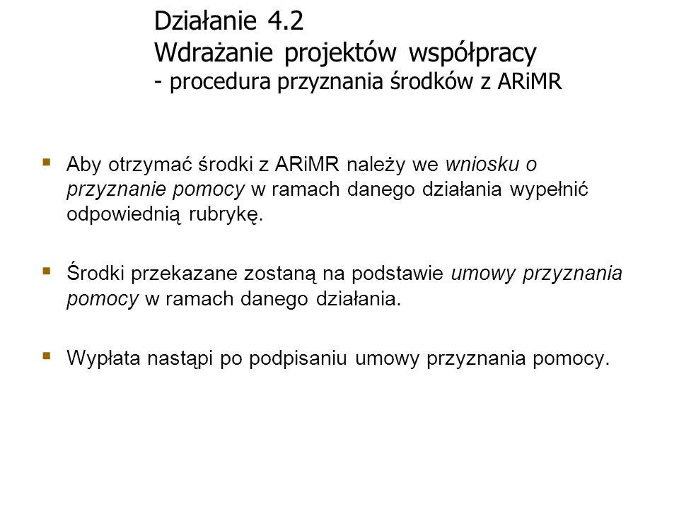 Działanie 4.2 Wdrażanie projektów współpracy - procedura przyznania środków z ARiMR