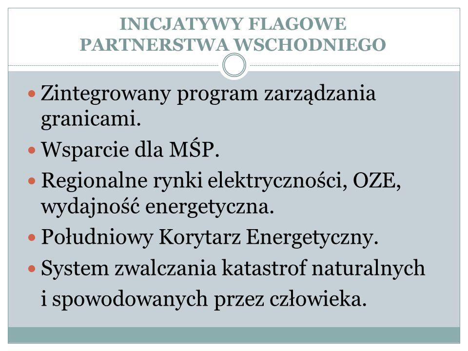 INICJATYWY FLAGOWE PARTNERSTWA WSCHODNIEGO