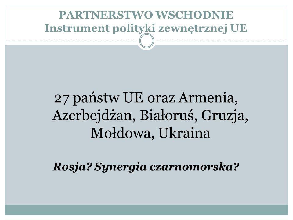 PARTNERSTWO WSCHODNIE Instrument polityki zewnętrznej UE