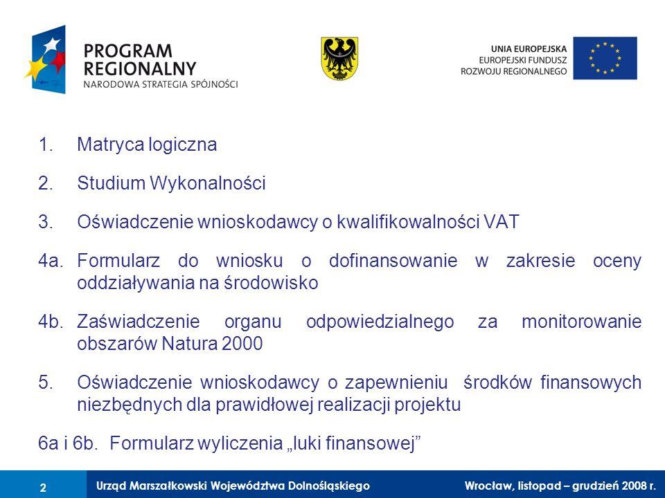 Oświadczenie wnioskodawcy o kwalifikowalności VAT