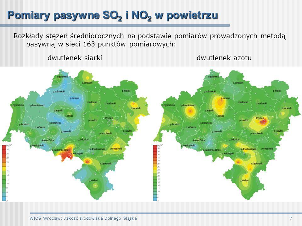 Pomiary pasywne SO2 i NO2 w powietrzu
