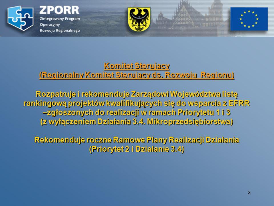 (Regionalny Komitet Sterujący ds. Rozwoju Regionu)