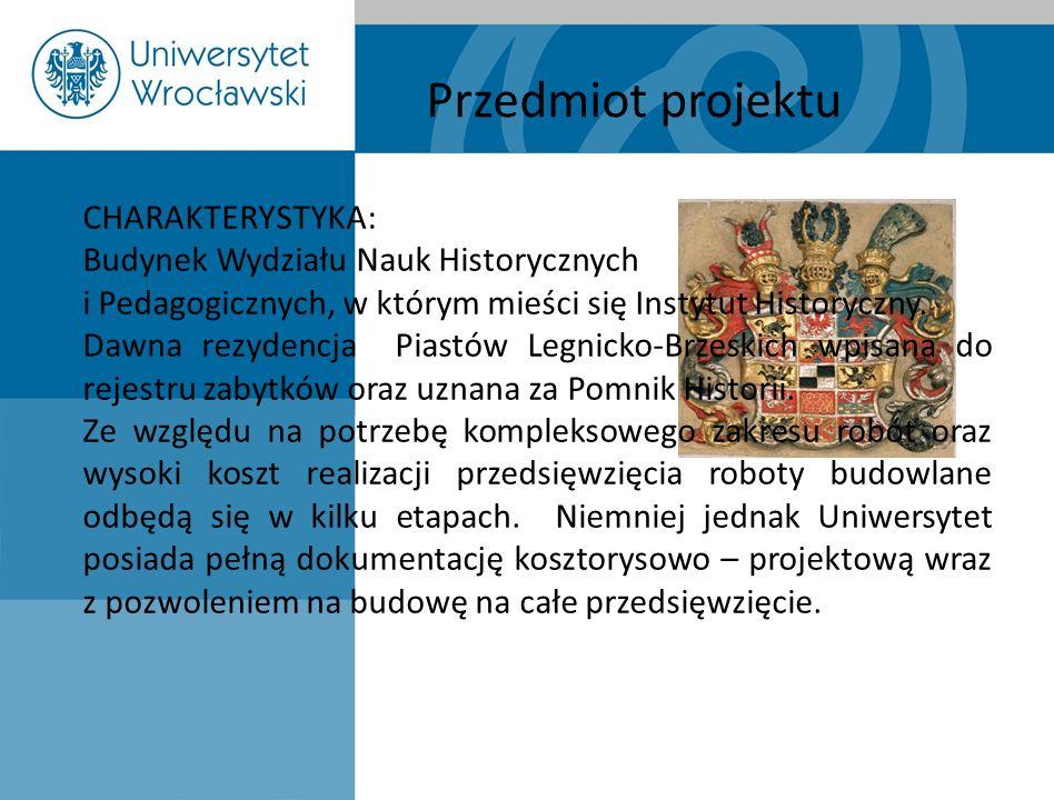 Przedmiot projektu CHARAKTERYSTYKA: