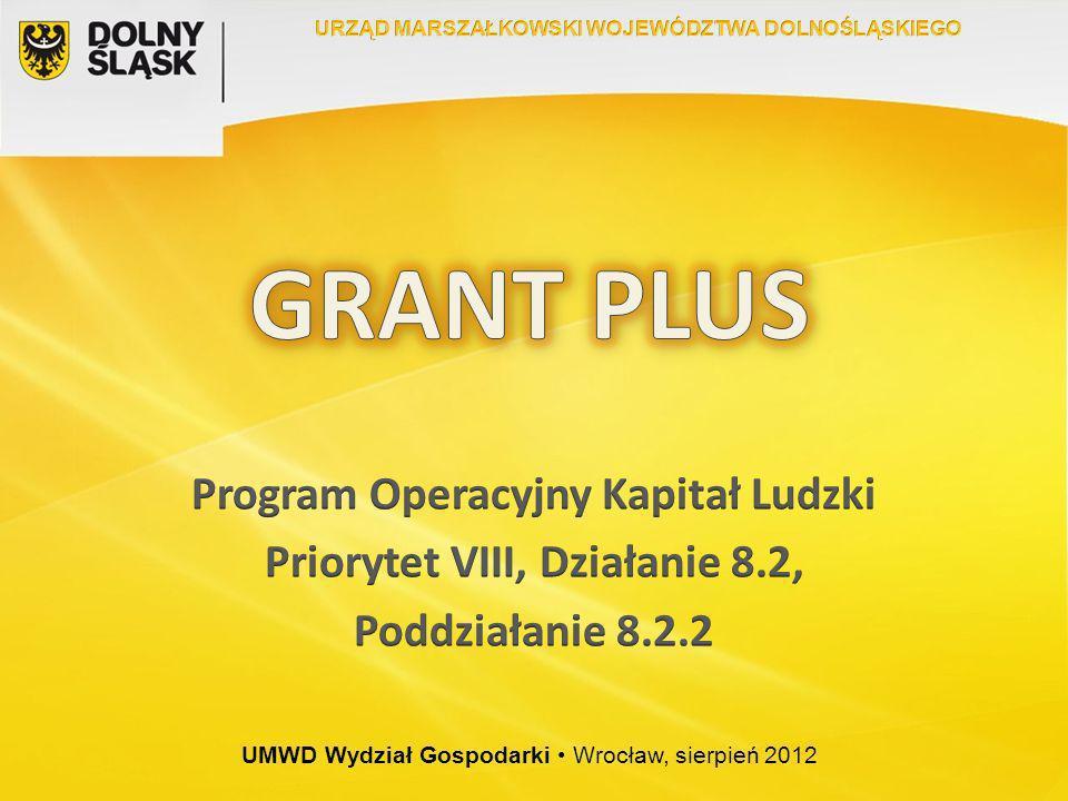 GRANT PLUS Program Operacyjny Kapitał Ludzki