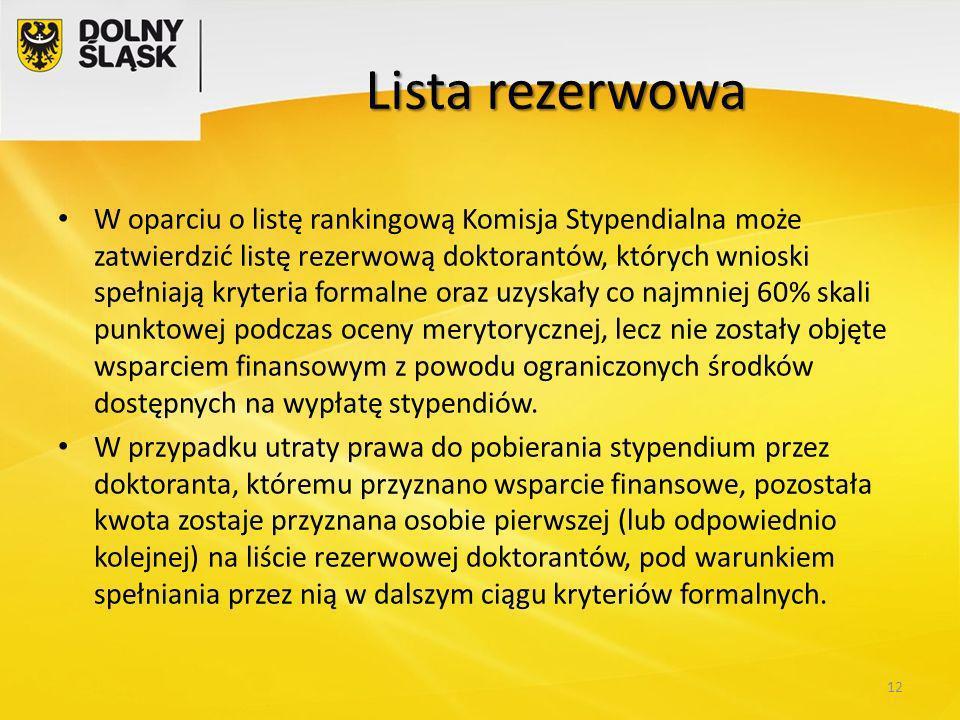 Lista rezerwowa