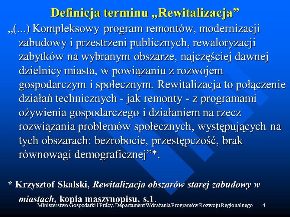 "Definicja terminu ""Rewitalizacja"