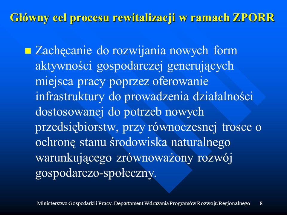Główny cel procesu rewitalizacji w ramach ZPORR
