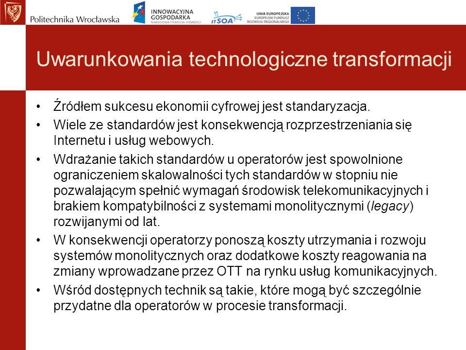 Uwarunkowania technologiczne transformacji