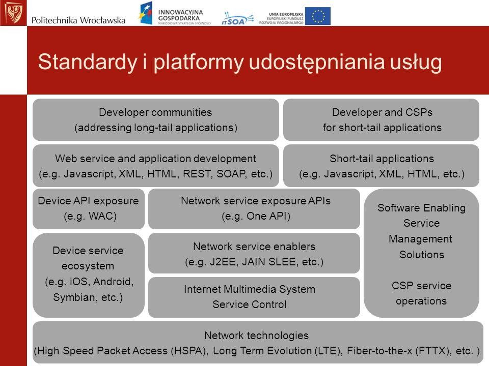 Standardy i platformy udostępniania usług