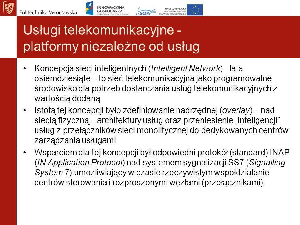 Usługi telekomunikacyjne - platformy niezależne od usług