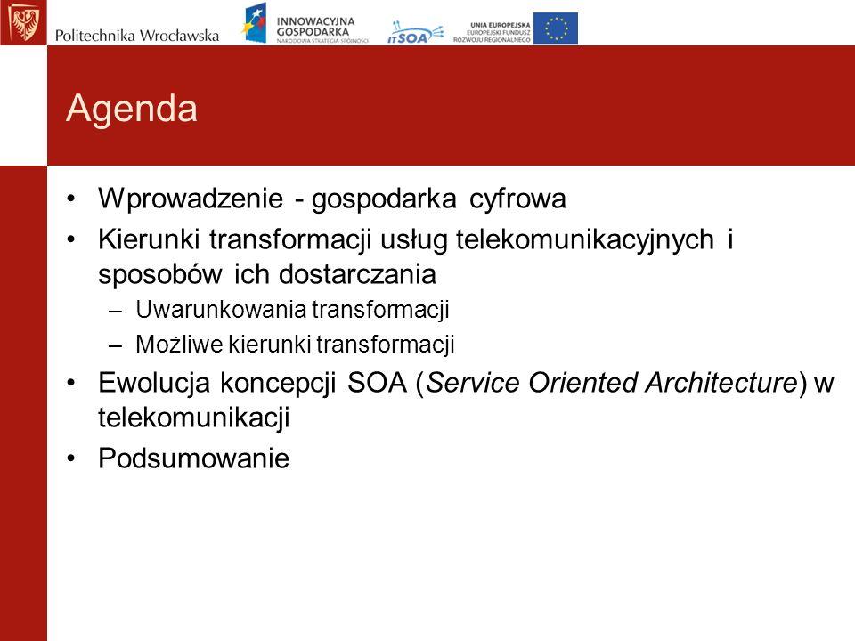 Agenda Wprowadzenie - gospodarka cyfrowa