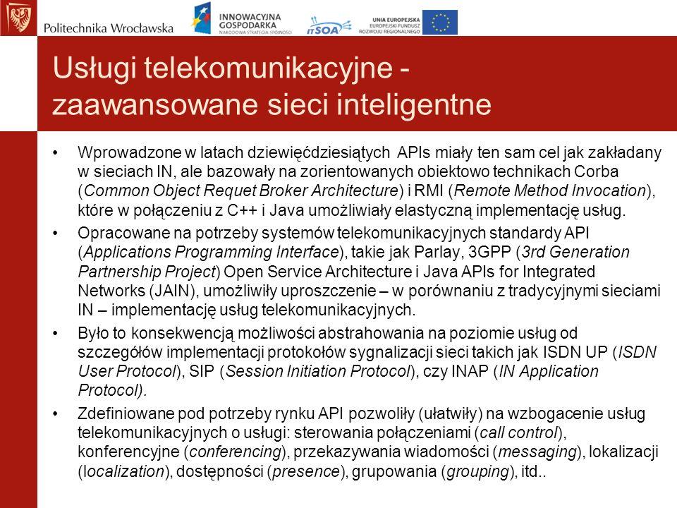 Usługi telekomunikacyjne - zaawansowane sieci inteligentne