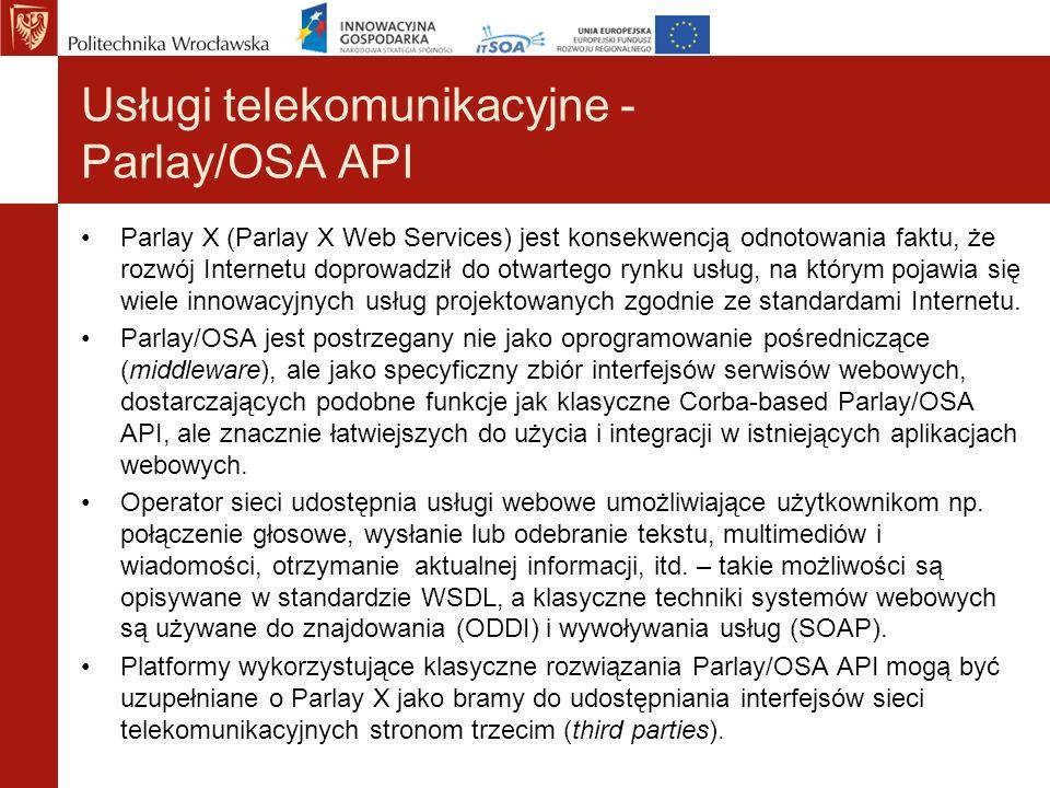 Usługi telekomunikacyjne - Parlay/OSA API