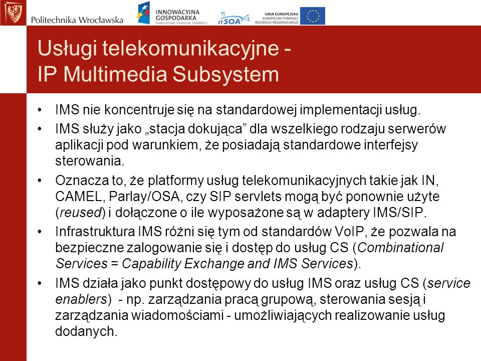 Usługi telekomunikacyjne - IP Multimedia Subsystem