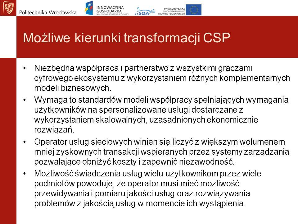 Możliwe kierunki transformacji CSP