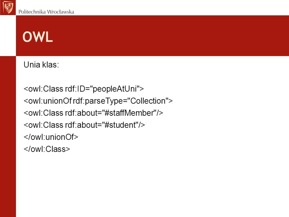 OWL Unia klas: <owl:Class rdf:ID= peopleAtUni >