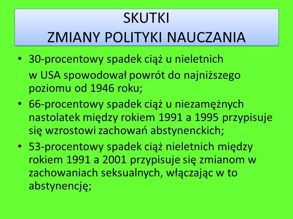 SKUTKI ZMIANY POLITYKI NAUCZANIA
