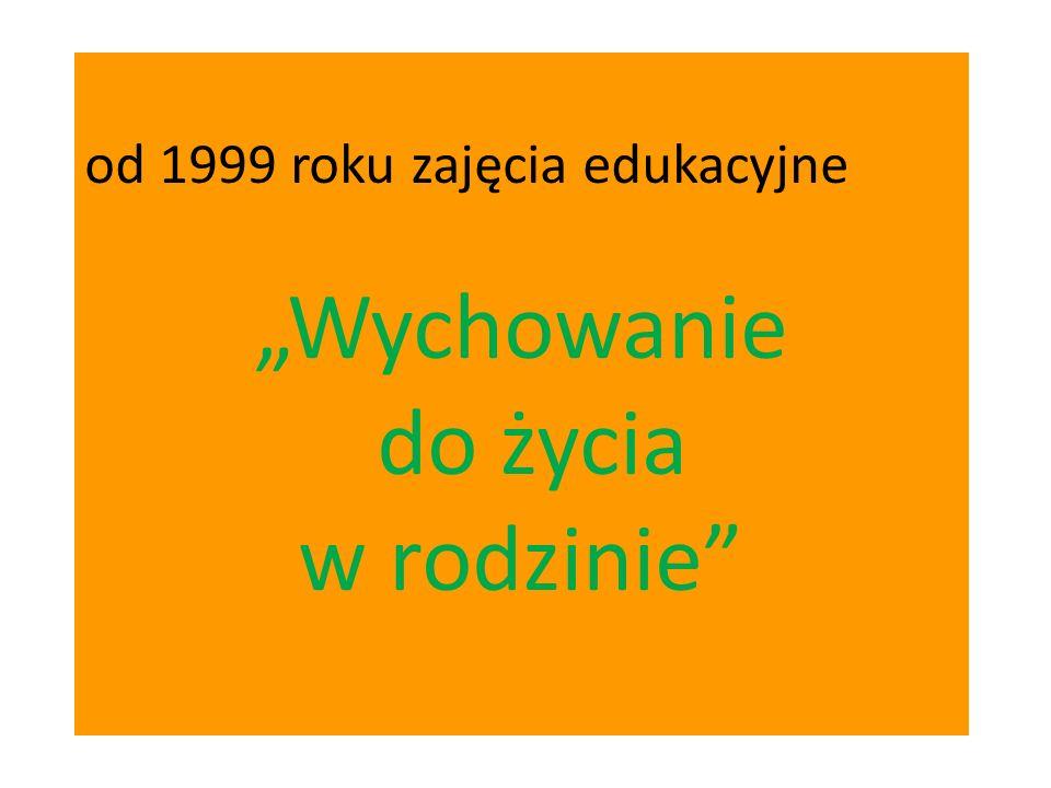 od 1999 roku zajęcia edukacyjne