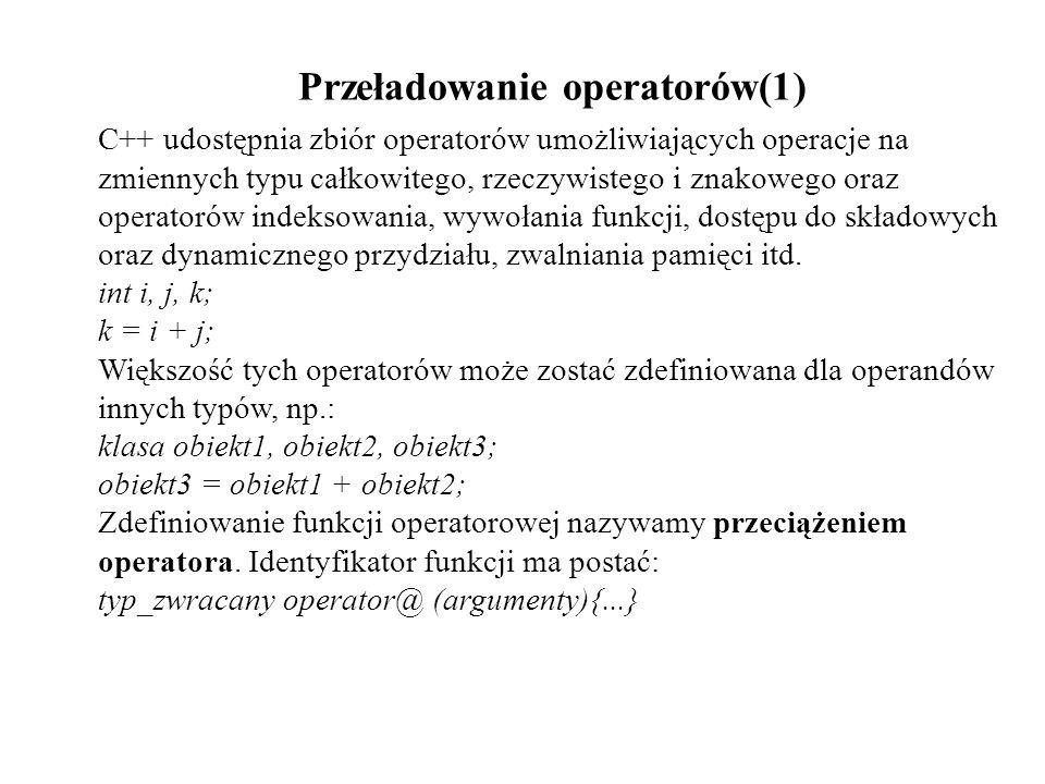Przeładowanie operatorów(1)