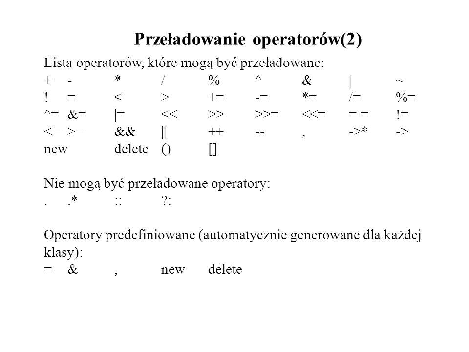 Przeładowanie operatorów(2)