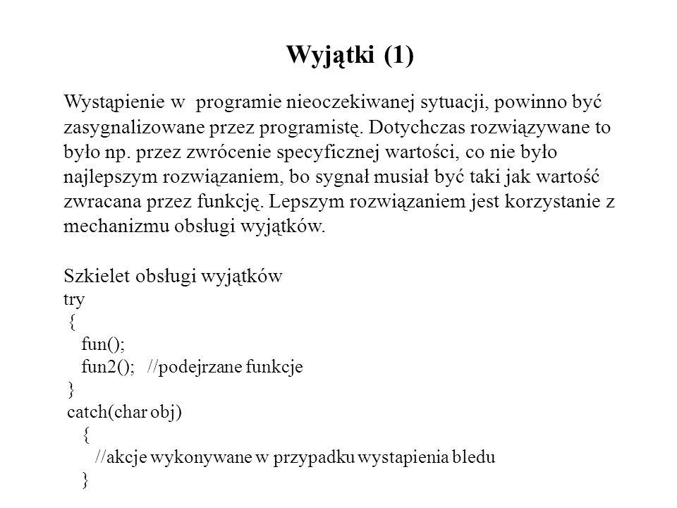 Wyjątki (1)