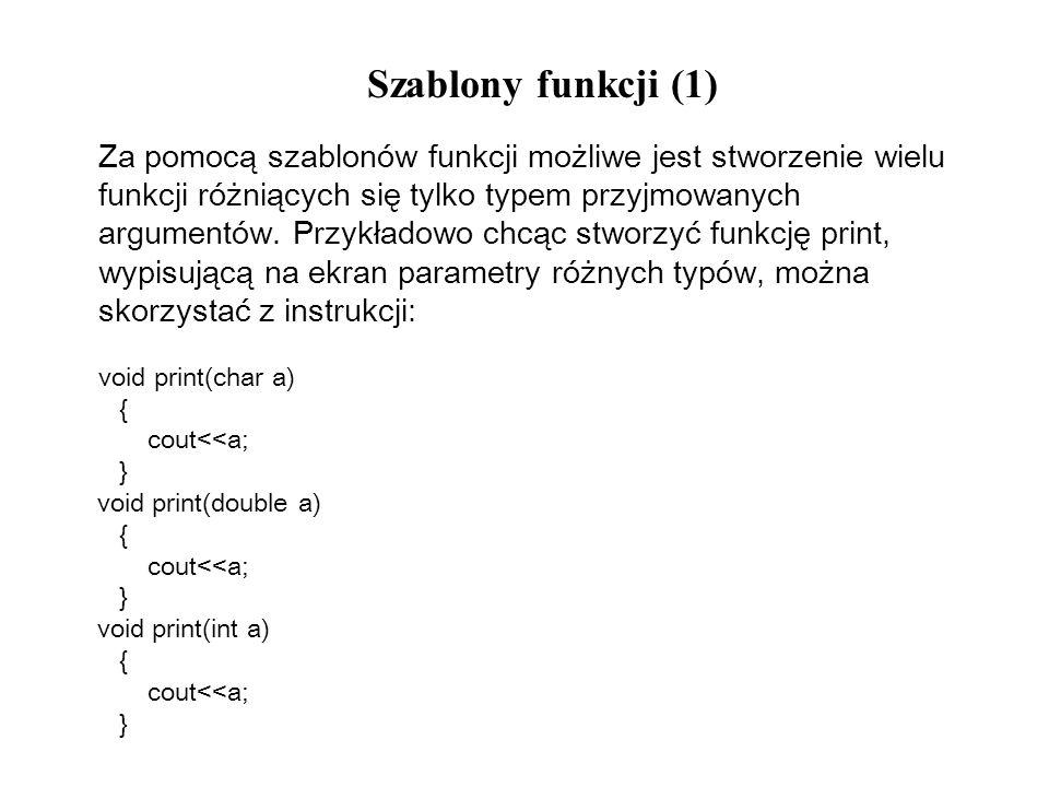 Szablony funkcji (1)