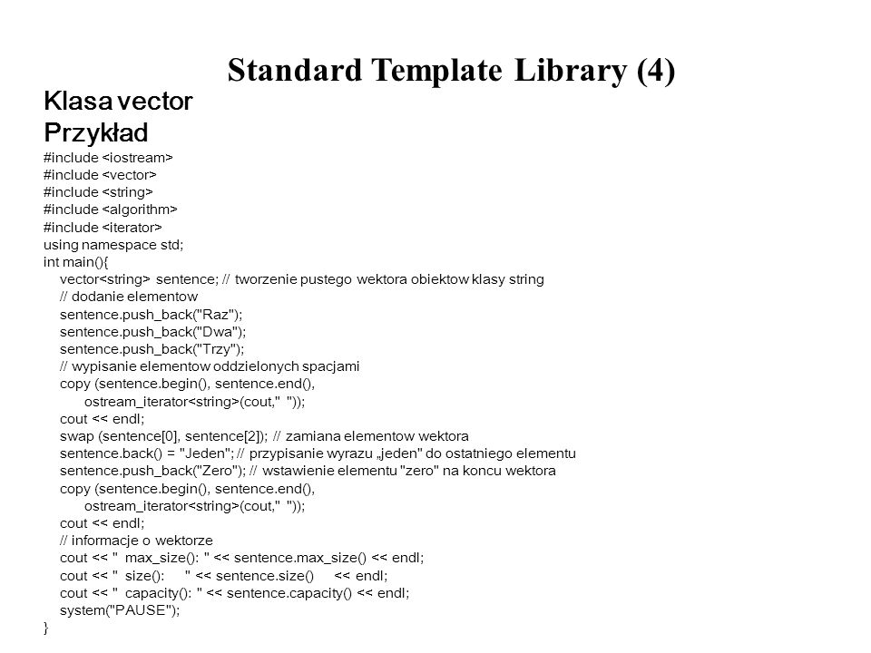 Standard Template Library (4)