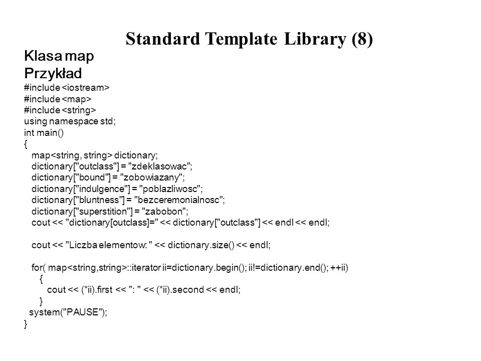 Standard Template Library (8)