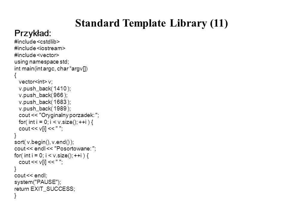 Standard Template Library (11)
