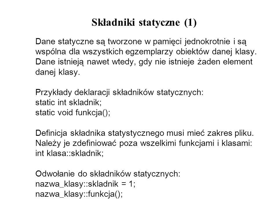 Składniki statyczne (1)