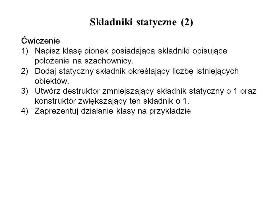 Składniki statyczne (2)